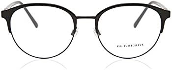 Burberry Optical Black Mens Round Eyeglass Frames