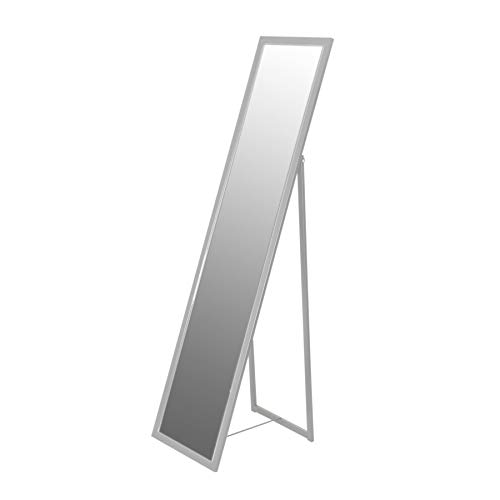 Harbour Housewares Miroir sur Pied rectangulaire - argenté