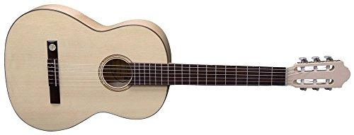Pro Natura 500230 Series-Konzertgitarre 4/4 mit massiver Fichtendecke silber