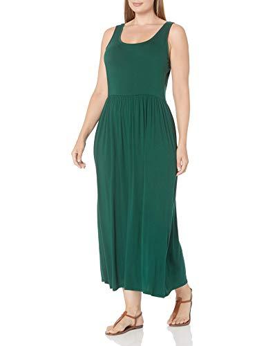 Amazon Essentials Maxikleid in Übergröße mit Tank-Taille Kleid, Jadegrün, XXL Größen