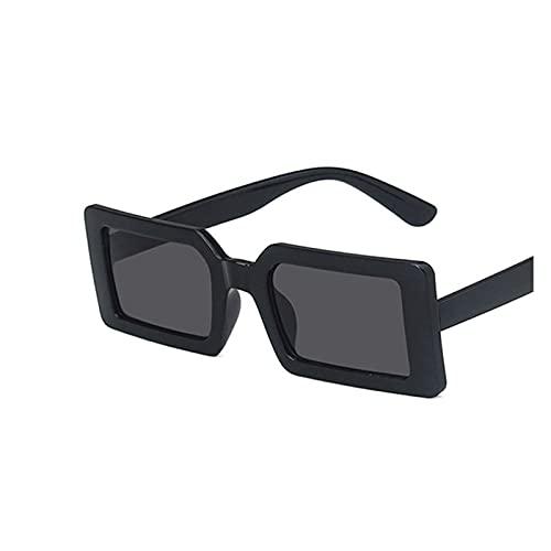 Gafas de sol para mujer Gafas de sol de la calle fluorescente verde Gafas de sol de moda del rectángulo de moda Diseño de la marca de la marca Negro Marco grueso de la moda Gafas de sol frescas