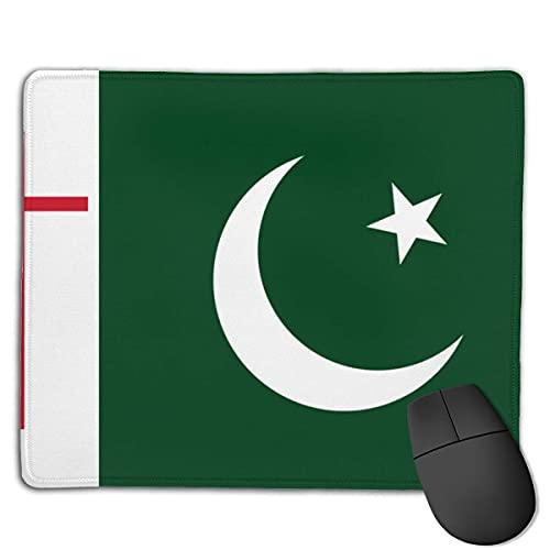 Alfombrilla de ratón con la Bandera de Pakistán con Alfombrilla de Goma con Forma de Cruz, Adecuada para el Trabajo, los Juegos, la Oficina, el hogar, un Juego rápido y preciso, 25 x 30 cm