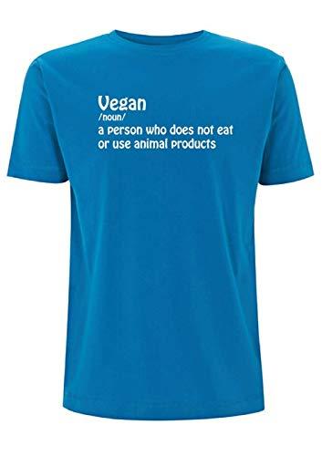 Tiempo 4 Tee Vegano Significado Camiseta para hombre Top Vegetariano Vegetariano de la Salud de la Carne Libre de Planta Base de la Dieta Fitness Azul azul eléctrico L