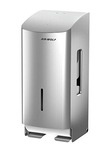 AIR-WOLF WC-Papierspender, 2 Rollen, Edelstahl gebürstet, Serie Alpha