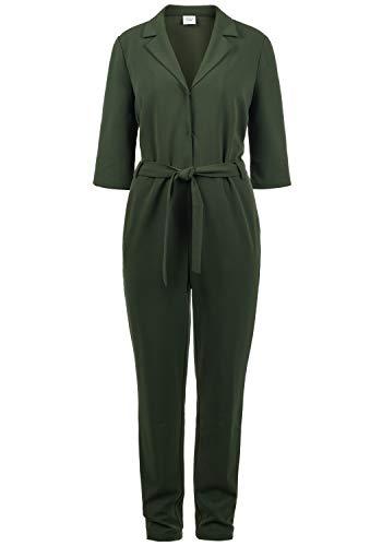 ONLY Jamila Jumpsuit Overall Einteiler Mit V-Ausschnitt Und Gürtel, Größe:L, Farbe:Duffle Bag