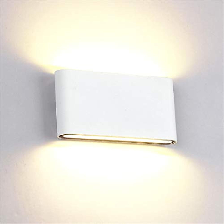 12 W LED Wandleuchte Up Down Wandleuchte Outdoor Indoor IP65 Warmwei Einstellbarer Abstrahlwinkel für Flur Wohnzimmer Schlafzimmer Garten