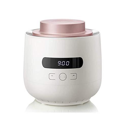 UNU_YAN Moderne Einfachheit Automatische Digitale Joghurtmaschine Doppelglasbehälter 304 Edelstahl Innenwand Home Große Kapazität Selbstgemachter Joghurtkäse (Farbe: weiß)