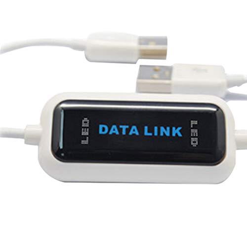 rongweiwang De Alta Velocidad USB 2.0 al Cable USB cuota de línea Cable de Datos en línea Compartir Enlace de Datos Directa Neta de Transferencia de Archivos por Cable Puente de PC a PC Portátil
