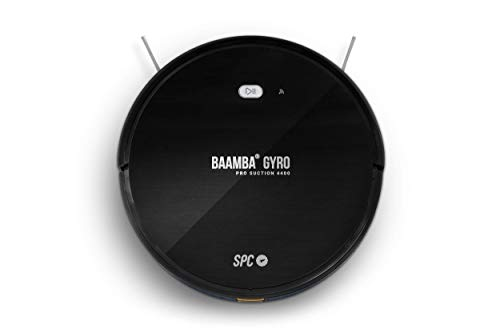 SPC Baamba® Gyro Pro Suction 4400. Robot Aspirador Inteligente Wi-Fi: Limpieza Inteligente 4.0, 6 Modos de Limpieza, 4 potencias de succión, 3 Modos de fregado, batería de Gran Capacidad 5200mAh, App