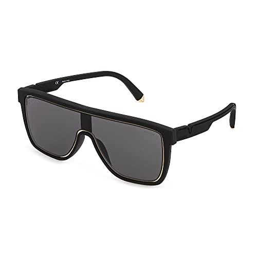 Police Lewis 23 SPLC51 06AA 99-0-150 - Gafas de sol unisex, color negro, con lentes ahumadas