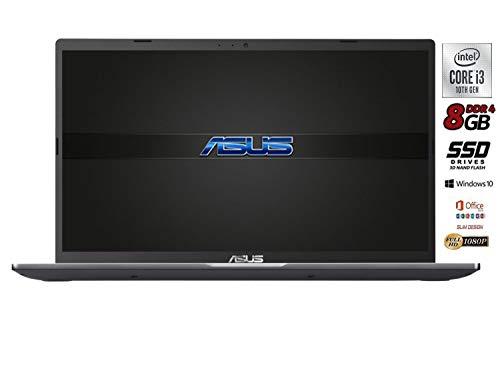 Asus Vivobook SLIM, SSD M.2 da 256GB, Cpu Intel i3 di 10th GEN., 8Gb DDR4, Display 15,6 FULL HD, wi-fi, 4 Usb, Bt, Intel UHd 620, Win 10 pro, Pronto All'uso Gar. Italia Titolo