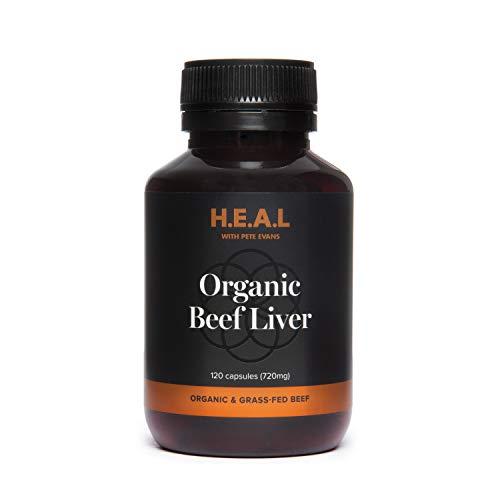 Pete Evans Organic Grass Fed Beef Liver Capsules - 120 Capsules - Made in Australia.