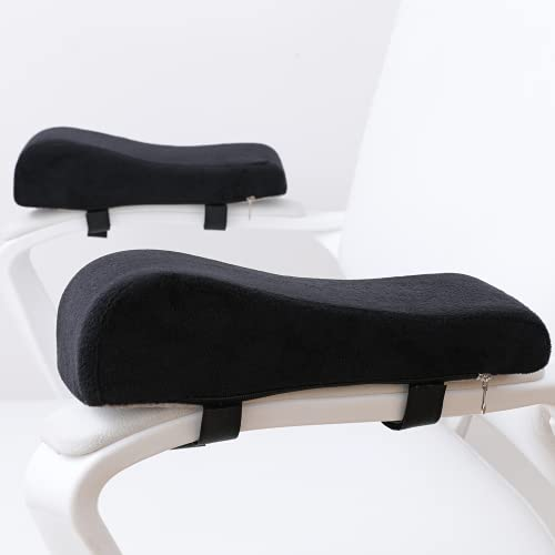 LargeLeaf Chair Ergonomic armrest Cushions Elbow Pillow Pressure Relief Office Chair Gaming Chair armrest with Memory Foam armrest Pads 2-Piece Set of Chair