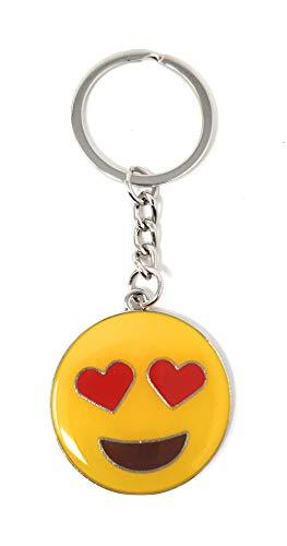 Valmoni Sport Llavero Emojis emoticonos Cara Sonriente corazón Beso Lengua guiño Caca Whatsapp (Enamorado)