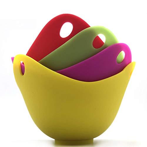 ZUEN Gedämpfter Eierkocher Silikon-Eierkocher 4Er-Set Hochtemperaturbeständig Mit Rundem Boden Leicht Zu Reinigen Leicht Zu Lagern Geeignet Für Die Küche Im Esszimmer