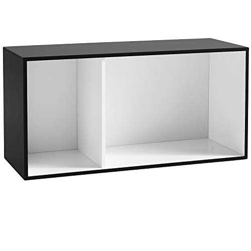 My-goodbuy24 Regal Regalsystem für Aufbewahrung | Schrank Stauraum Standregal Aktenregal Medienregal Bücherregal Wandregal | schwarz weiß | 78,2 x 39 x 29,5 cm