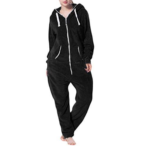 Vrouwen eenkleurig comfy pluche overall jumpsuit onesies met stijl. Elegant, knuffelig, zacht. Overall, full-body pak, joggen - vrije tijd pak, onesie zachte kleding
