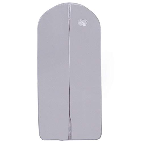ZYCW Garment Bag Suit Bags for Storage and Travel Dust Cover Breatbable Garment Bags for Long Gowns Suits, Dresses Coats, Set of 6 (light gray,60 * 106cm)