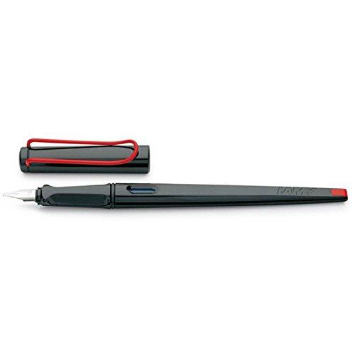 LAMY joy Füllhalter 015 – Schönschreibfüller in der Farbe Schwarz-Rot mit Kalligraphiefeder und Griffmulden – Federspitze 1,9 mm