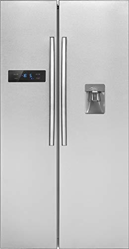 Bomann SBS 2211 IX Kühl-Gefrierkombination Side-by-Side/A++/178.8 cm 329 kWh/Jahr /338 L Kühlteil /175 L Gefrierteil/Total No Frost