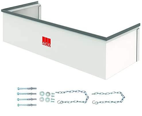 ACO Therm Aufsatz für 40 cm tiefen Lichtschacht fixes Aufstockelement INKLUSIVE begehbares Montageset 1000 x 275 mm