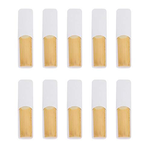 Altsaxophon-Blätter, 10er-Pack Bambus-Tenorsaxophon-Blätter für Instrumenten-Zubehör