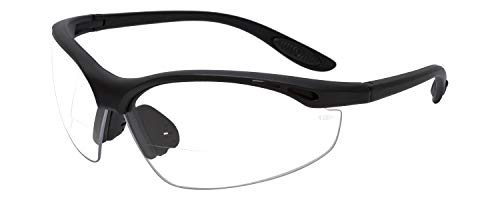 Calabria 91348 Bi-Focal Safety Glasses UV Protection in Clear +2.00