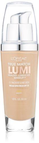 L'Oreal Paris True Match Lumi Healthy Luminous Makeup, W5 Sand Beige, 1 fl; oz.