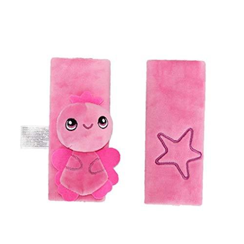 KHHGTYFYTFTY Asiento Infantil de la Correa de Cubiertas 1 par Lindo de la Felpa del bebé Cubierta de la Correa para Niños Pink Angel Seguridad