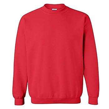 Gildan Men s Fleece Crewneck Sweatshirt Style G18000 Red Large