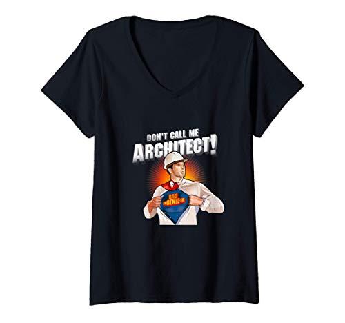 Womens Civil Engineer Design Architect Super Hero Civil Engineer V-Neck T-Shirt
