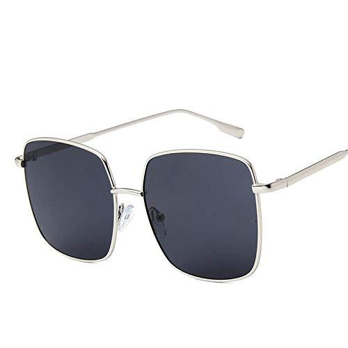 DLSM Gafas de Sol Océano Lente Gafas de Sol Mujeres Vidrios Vintage Candy Colors Espejos UV400 Adecuado para Caminatas al Aire Libre Conducción Gafas de Sol-Gris-Plata
