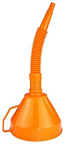 SIDCO Trichter XXL Riesentrichter Benzin Universaltrichter Fasstrichter + Sieb orange