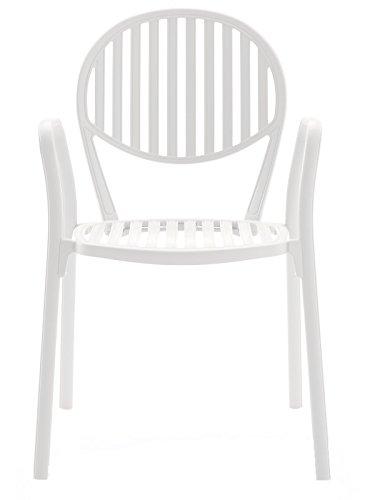 Fast Olympia Fauteuil empilable en Aluminium Art.3500 Couleur Blanc