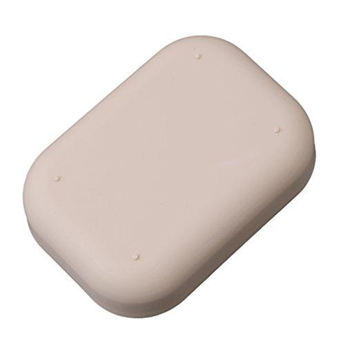 #N/A Sawyerda - Jabonera de doble capa para baño, cocina, color marrón