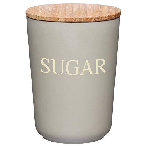 Kitchencraft Natural Elements ermetico Contenitore per Lo Zucchero in Fibra di bambù, Grigio, 10.5x 14.5cm