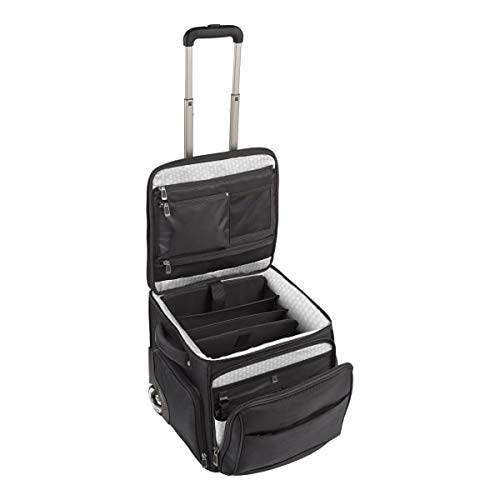 Ativa Ultimate Workmate Rolling Briefcase With 15' Laptop Pocket, Black