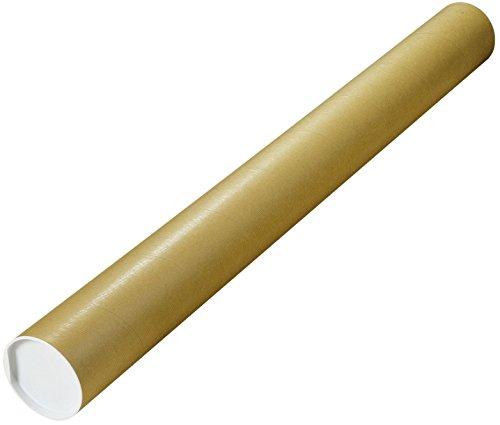 Elepa - rössler kuvert 30001361 Versandrohre mit vormontierten Verschlusskappen, Dürchmesser 1000x100 mm, braun
