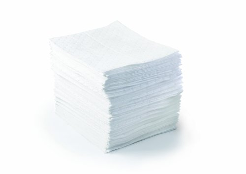 """Brady SPC BPO500 15"""" x 17"""" Light Weight Economical Oil Only Absorbent Pads - 100 ct"""