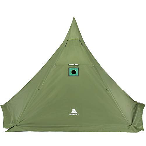 Pomoly HEX Plus Hot Tent Large Camping Tipi with Stove Jack 4 Season...