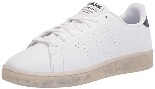 adidas mens Advantage Eco Sneaker, White/White/Ink, 11 US