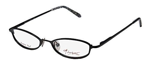 Thalia Ave Womens/Ladies Rx-able Casual Designer Full-rim Eyeglasses/Spectacles (46-16-130, Black)