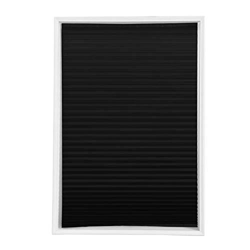 KJBGS Jalousie Selbstklebende gefaltete Jalousien Halbe Blackout Badezimmerfenster Vorhänge Schön und langlebig (Color : Black, Size : 60X150cm)
