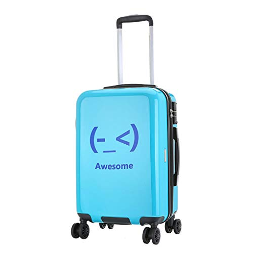 NJ Box Kruiwagen Universele koffer met wielen voor mannen en vrouwen, 20 inch, creatieve koffer voor espressomachine, random color (blauw) - NJ-123