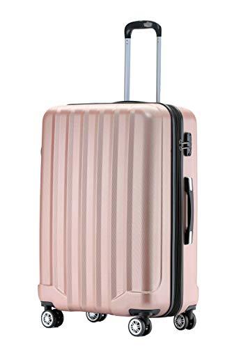 BEIBYE TSA-Schloß 2080 Hangepäck Zwillingsrollen neu Reisekoffer Koffer Trolley Hartschale Set-XL-L-M(Boardcase) (Rosa Gold, XL)