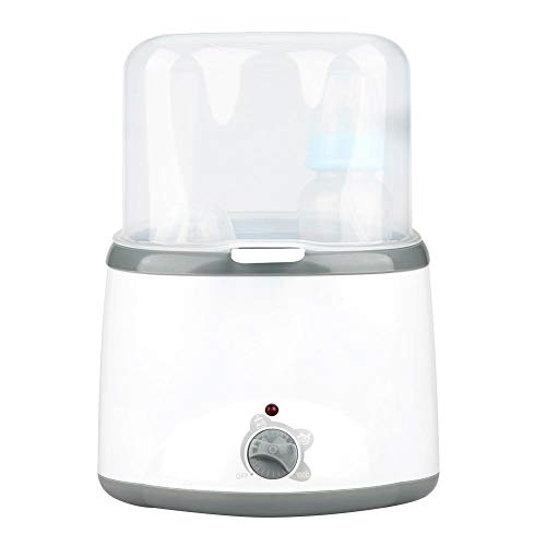 2in1 Babyflaschenwärmer mit Flaschensterilisator und Milchwärmerfunktion Babynahrungsheizwerkzeug (3 Temperaturstufen)(EU Plug)