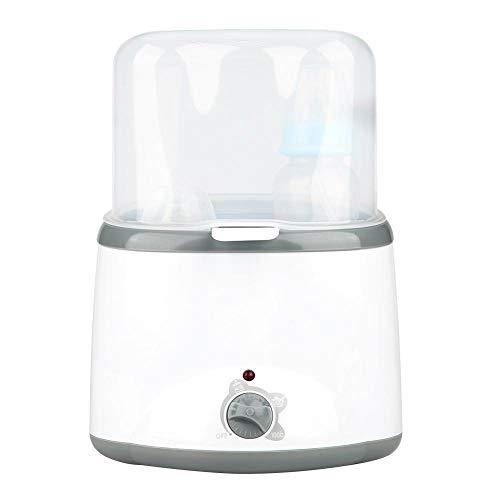 Calentador de biberones 2 en 1 con esterilizador de biberones y función de Calentador de Leche Herramienta de Calentamiento de Alimentos para bebés (3 Grados de Temperatura)(EU Plug)