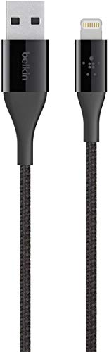 Belkin MIXIT DuraTek Lightning to USB Cable - MFi-Certified iPhone Charging Cable for iPhone XS, XS Max, XR, X, 8/8 Plus and more (4ft/1.2m), Black