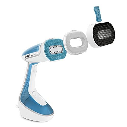 Tefal DT9530 Dampfglätter Pure Tex | Exklusives Multi-Pad-System | 4 Funktionen in einem Gerät: Entkeimen, Glätten, Säubern, Beduften | Für alle Heimtextilien geeignet
