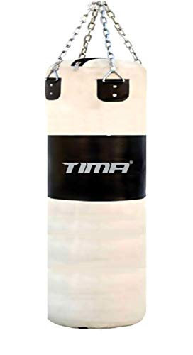 Tima Heavy Duty Punching Bag with Chains Unfilled (48 Inches Long with Chains, (Unfilled)